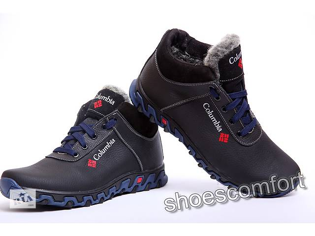 бу Columbia Black - Blue model 92  -  зимние кожаные мужские ботинки в Вознесенске