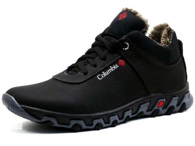 бу Columbia Black-Grey  -  зимние кожаные ботинки / кроссовки на меху в Вознесенске