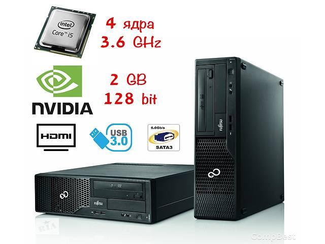 купить бу FSC Esprimo E510 SFF / Intel Core i5-3470 (4 ядра) / 4 Гб DDR3 / 250 Гб / Nvidia GeForce 730 2 GB в Киеве
