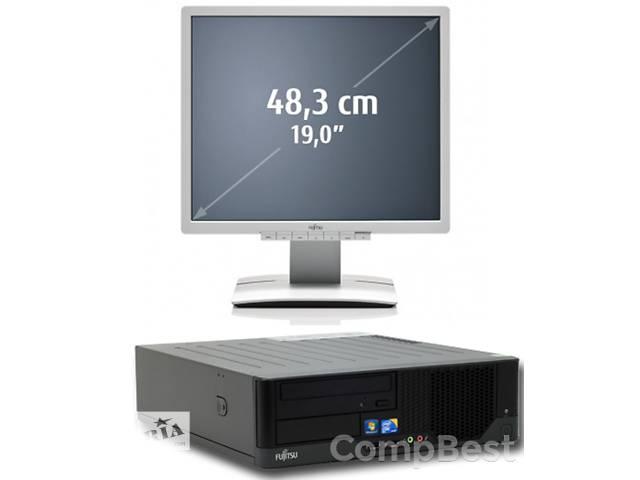 бу Гарантія: Компютер, Системний блок 4 ядра Intel 4 ГБ RAM з Монітором 19 дюймів FSC LED, колонки / Наклейка ліцензії Win7 в Києві