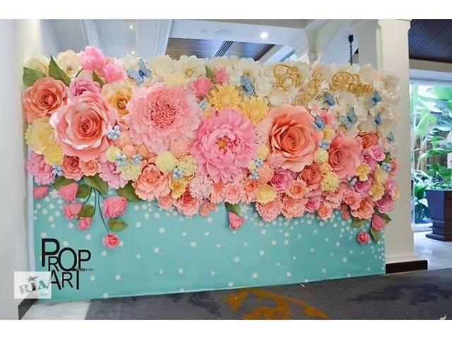 Панно из цветов на свадьбу