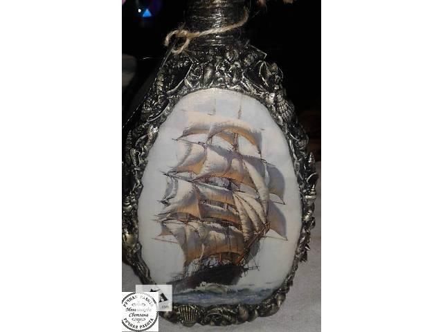 Декорированная бутылка 0.5 л.- объявление о продаже  в Запорожье