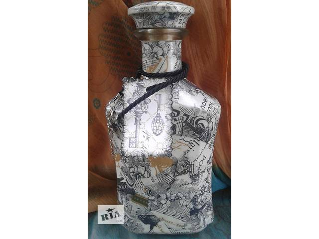 продам Декорированная коньячная бутылка.0.5 л. Ручная работа бу в Запорожье