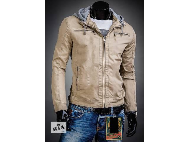 купить бу Демисезонная бежевая куртка с капюшоном в Черкассах
