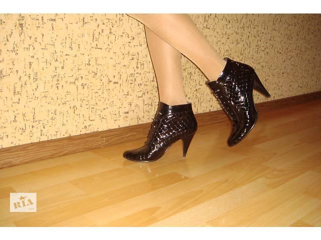 бу Демисезонные ботинки из натурального лака. в Мариуполе