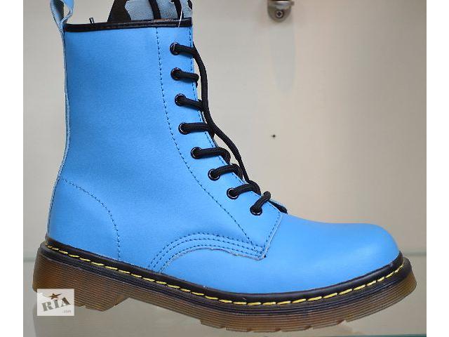 бу демисезонные кожаные ботинки голубого цвета р.38 про-во Польша (вишот) в Чернигове