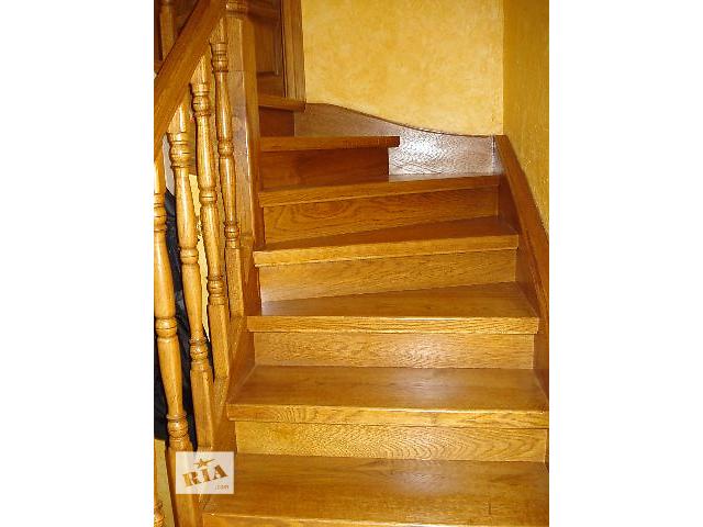 продам Проектування,виготовлення і встановлення сходів з дерева. бу в Львовской области