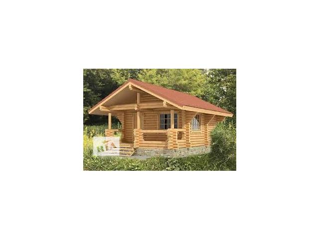 продам Деревянная баня из дикого бревна (ручная рубка) с террасой 39м2 бу  в Украине