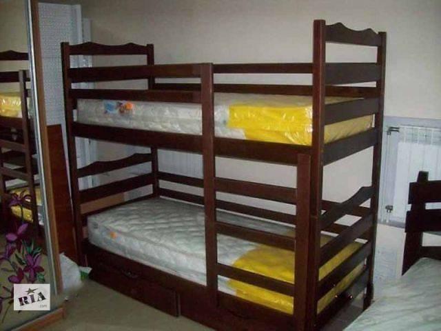 купить бу Деревянная усиленная двухъярусная кровать Софи разбирается на две кровати в Киеве
