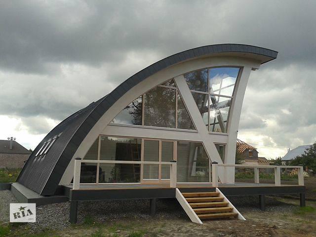 бу Деревянные дома современной архитектуры от производителя Гнуто-клееные деревянные конструкции  в Украине