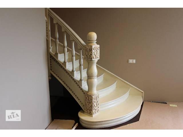 бу элитные дубовые лестницы из массива дуба в Тернополе