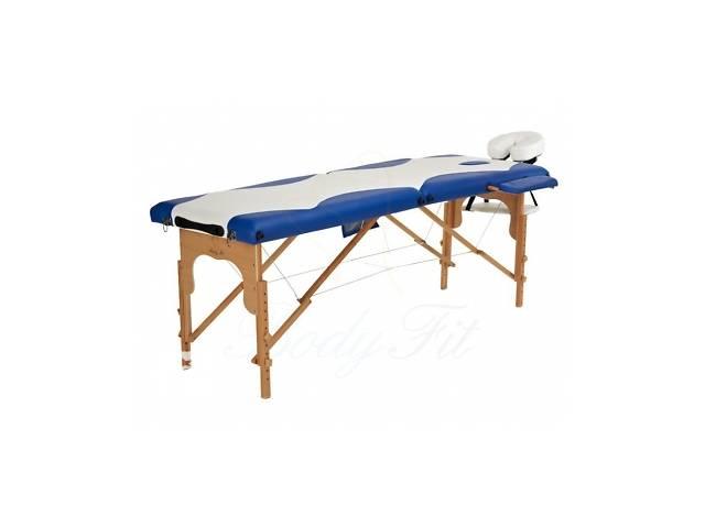купить бу Деревянный 2-х сегментный стол для массажа 2 цвета  в Украине