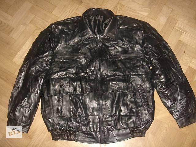 бу дешевая куртка из кусков НАТУРАЛЬНОЙ КОЖИ в Киеве