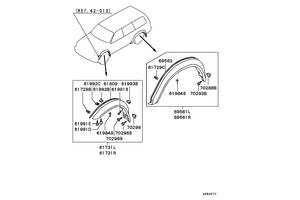 Новые Накладки крыла Mitsubishi Pajero Sport