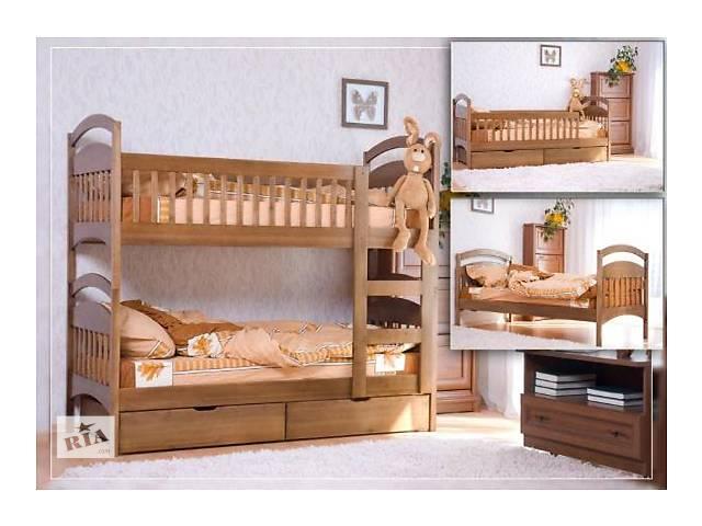 продам детская двухъярусная кровать трансформер от производителя деревяная бу в Киеве