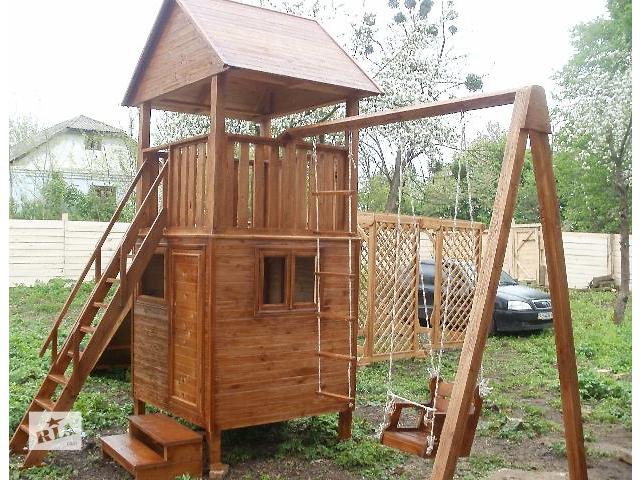 купить бу Детский игровой комплекс из массива дерева в Виннице