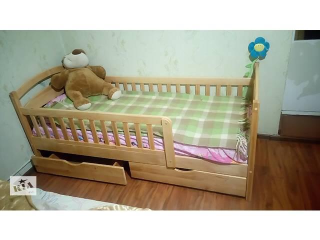 Детская кроватка деревянная с бортиками защиты!- объявление о продаже  в Киеве
