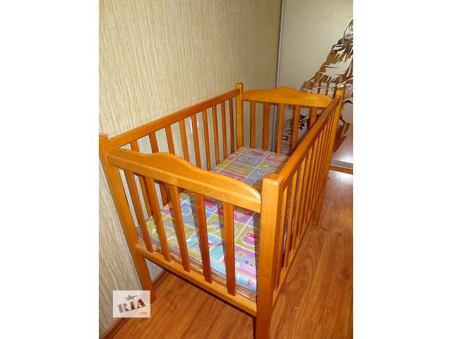 Детская кроватка с матрасиком- объявление о продаже  в Запорожье