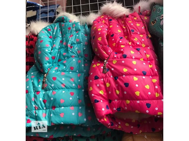 купить бу Детская зимняя куртка Горошек с сердечком на овчине оптом  в Одессе