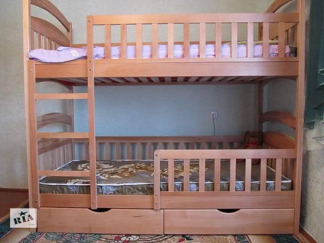 купить бу Детская двухъярусная кровать-трансформер с дерева! в Киеве