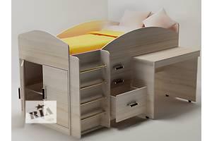 Детская кровать чердак с выдвижным столом