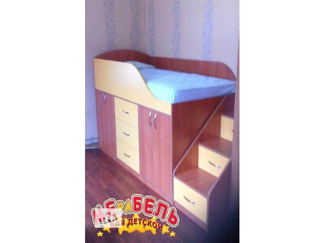 продам Детская кровать со шкафами, ящиками и лестницей-комодом (дл4) Merabel бу в Харькове
