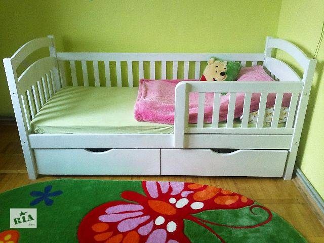 купить бу Детская кроватка с ортопедическим матрасом и с ящиками ! в Киеве