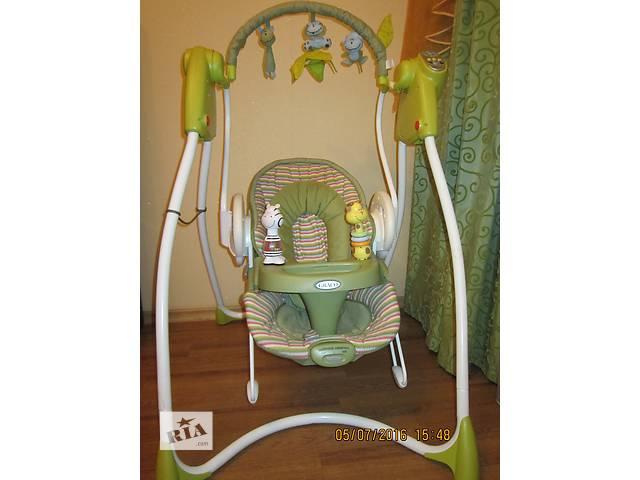 продам Детское кресло-электрокачеля 2 в 1 Graco Swing''''n''''Bounce бу в Николаеве