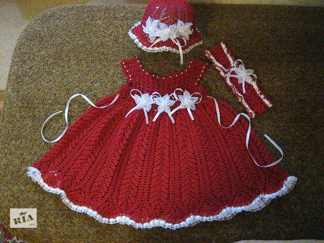Детское вязанное платье- объявление о продаже  в Запорожье