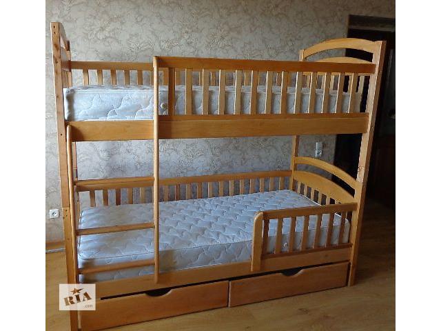 купить бу Двухъярусная кровать Карина Люкс в полной комплектации с ящиками и с матрасами ,цена от производителя! в Одессе
