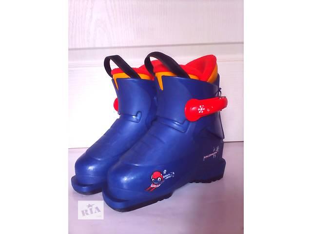 Детские лыжные ботинки Salomon T1 27 размер (17,5 см)- объявление о продаже  в Мукачево