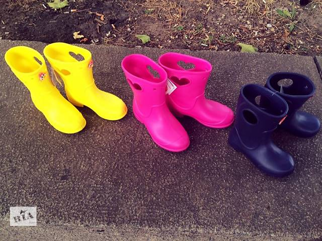 купить бу Детские сапоги crocs Кроксы на слякоть, на дождь в Днепре (Днепропетровске)
