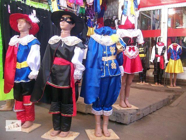 купить бу Детские карнавальные костюмы новый,новогодние,маскарадные костюмы,маски,парики,сказочные персонажи,шляпы,бороды. в Львове