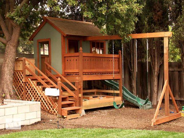 Как построить детский домик своими рук