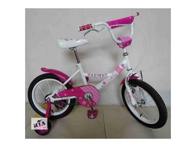 """продам Детский двухколесный велосипед Azimut Kathy -12"""" , розовый бу в Одесі"""