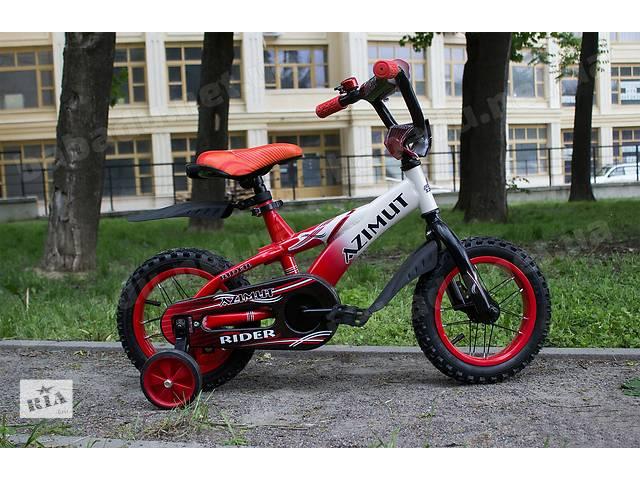 """продам Детский двухколесный велосипед Azimut RIDER (12""""-дюймов)  бу в Одесі"""