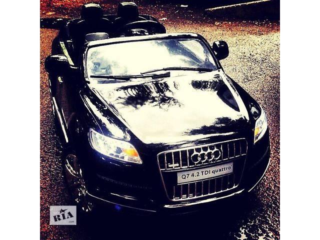 бу Детский электромобиль Audi Q7 черный колеса Eva в Львове