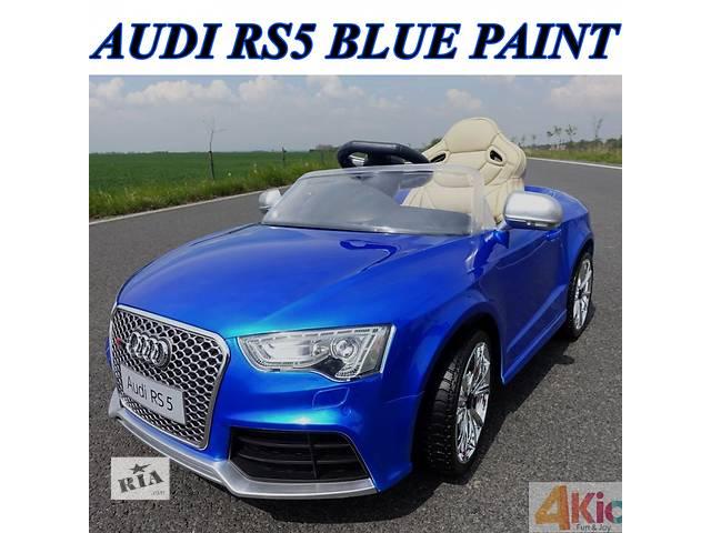 продам Детский электромобиль audi rs 5: 2.4g, eva, кожа, 8 км/ч - blue paint (6598547729) бу в Киеве