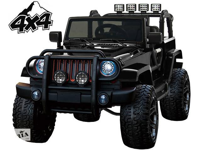 бу Детский электромобиль Jeep Monster: 4 мотра, 2 акум-ра, кож.сидение, рез.колеса EVA в Львове