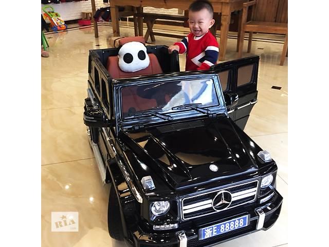 бу Детский электромобиль mercedes brabus m 2796 eblrs-2: eva, 2.4g, 8 км/ч, кожа - black paint в Одессе