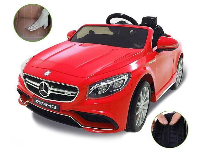 продам Детский электромобиль Mercedes S63 AMG с мягкими сиденьями и колесами бу в Львове
