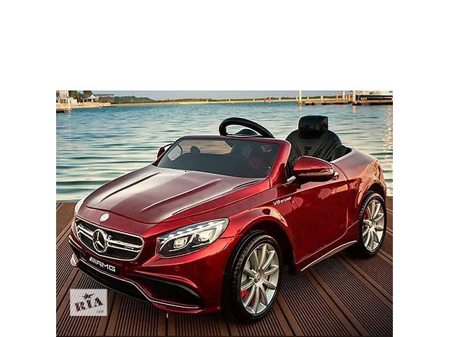 купить бу Детский электромобиль Mercedes S63 - M 2797 EBRS-3: 2.4G, EVA, 8 км/ч - BORDO PAINT в Львове
