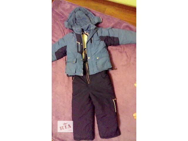 бу Детский зимний комбинезон (штаны на шлейках и куртка) в Ровно
