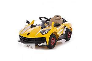 Супер! Детский электромобиль Lamborghini 8188 + ДУ, YELLOW: РЕЗИНОВЫЕ КОЛЕСА