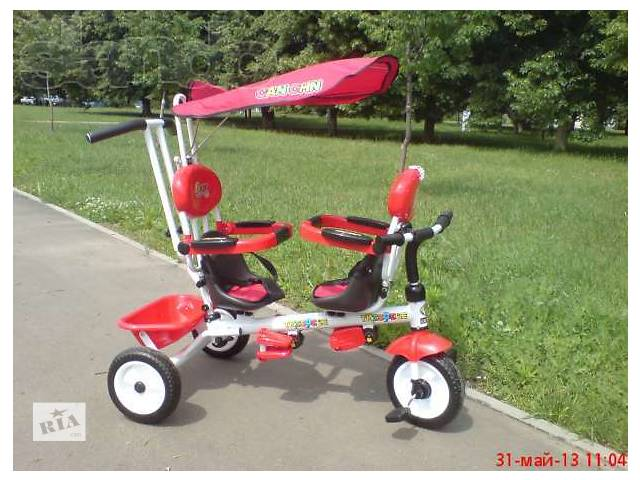 купить бу Детский велосипед для двойни в Днепре (Днепропетровск)