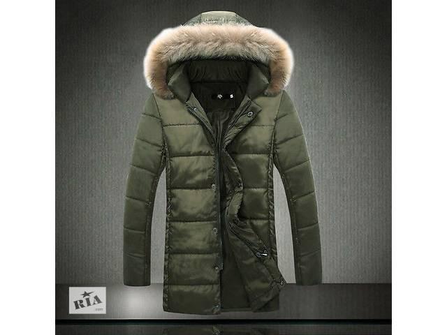 Длинная куртка зеленого цвета- объявление о продаже  в Черкассах