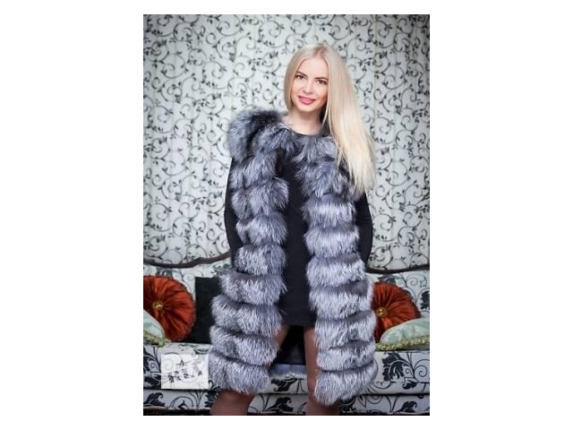Длинная женская жилетка из чернобурки- объявление о продаже  в Одессе