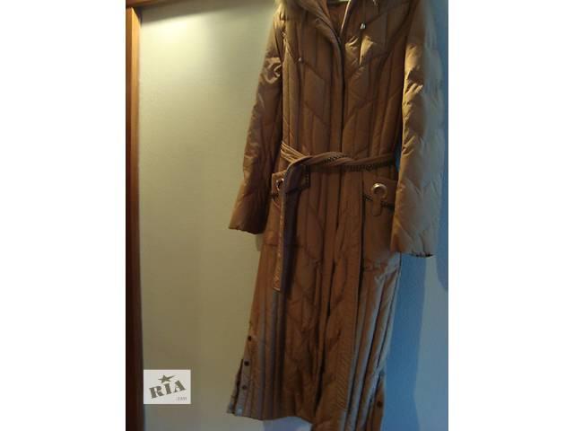 купить бу  Красивое теплое,длинное пуховое пальто. в Киеве