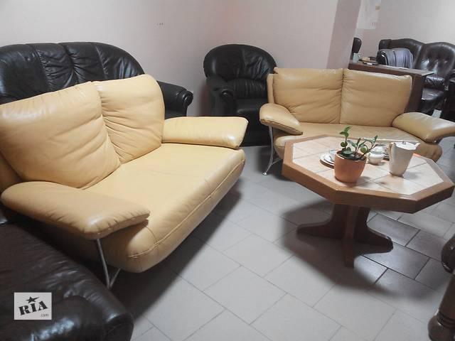 Два современных кожаных дивана- объявление о продаже  в Львове