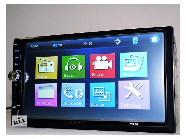купить бу DVD видео USB SD FM автомагнитола Pioneer 7012B экран 7 дюймов подключение камеры Bluetooth пульт в Одессе